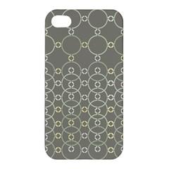 Circles Grey Polka Apple Iphone 4/4s Premium Hardshell Case by Mariart
