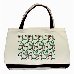 Bicycle Cycling Bike Green Sport Basic Tote Bag by Mariart
