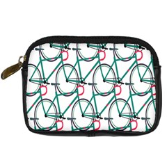 Bicycle Cycling Bike Green Sport Digital Camera Cases by Mariart