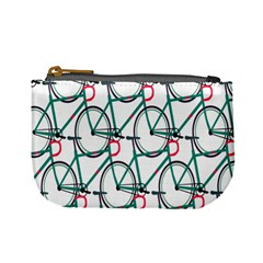Bicycle Cycling Bike Green Sport Mini Coin Purses by Mariart