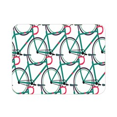 Bicycle Cycling Bike Green Sport Double Sided Flano Blanket (mini)  by Mariart