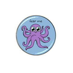 Colorful Cartoon Octopuses Pattern Fear Animals Sea Purple Hat Clip Ball Marker by Mariart