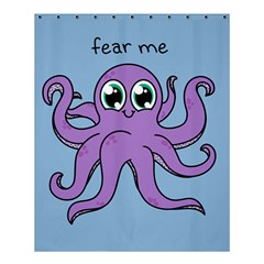 Colorful Cartoon Octopuses Pattern Fear Animals Sea Purple Shower Curtain 60  X 72  (medium)  by Mariart