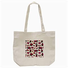Crown Red Flower Floral Calm Rose Sunflower White Tote Bag (cream) by Mariart