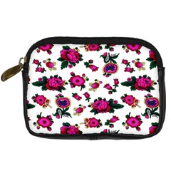 Crown Red Flower Floral Calm Rose Sunflower White Digital Camera Cases by Mariart