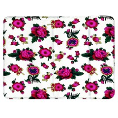 Crown Red Flower Floral Calm Rose Sunflower White Samsung Galaxy Tab 7  P1000 Flip Case by Mariart