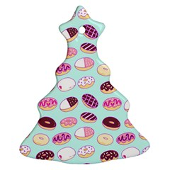Donut Jelly Bread Sweet Ornament (christmas Tree)  by Mariart