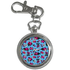 Crown Red Flower Floral Calm Rose Sunflower Key Chain Watches by Mariart