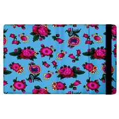 Crown Red Flower Floral Calm Rose Sunflower Apple Ipad 3/4 Flip Case by Mariart