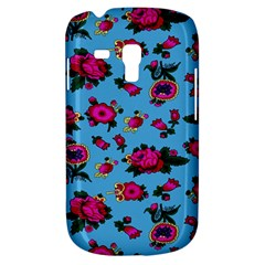 Crown Red Flower Floral Calm Rose Sunflower Galaxy S3 Mini by Mariart