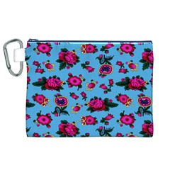 Crown Red Flower Floral Calm Rose Sunflower Canvas Cosmetic Bag (xl) by Mariart