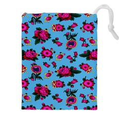 Crown Red Flower Floral Calm Rose Sunflower Drawstring Pouches (xxl) by Mariart