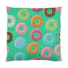 Doughnut Bread Donuts Green Standard Cushion Case (two Sides) by Mariart