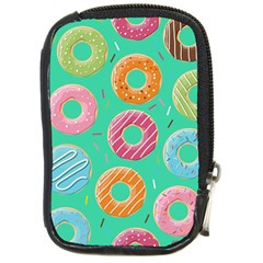 Doughnut Bread Donuts Green Compact Camera Cases by Mariart