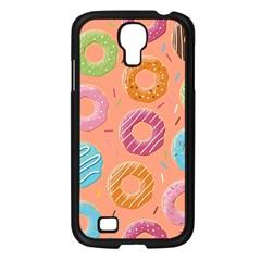 Doughnut Bread Donuts Orange Samsung Galaxy S4 I9500/ I9505 Case (black) by Mariart