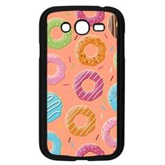 Doughnut Bread Donuts Orange Samsung Galaxy Grand Duos I9082 Case (black) by Mariart