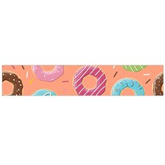 Doughnut Bread Donuts Orange Flano Scarf (large) by Mariart