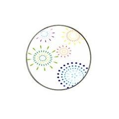 Fireworks Illustrations Fire Partty Polka Hat Clip Ball Marker (10 Pack) by Mariart
