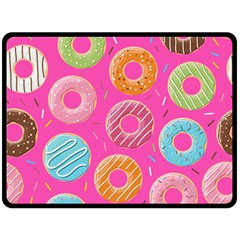 Doughnut Bread Donuts Pink Double Sided Fleece Blanket (large)  by Mariart