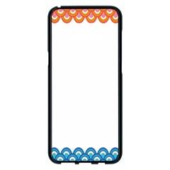 Fish Scales Dragon Circle Samsung Galaxy S8 Plus Black Seamless Case by Mariart