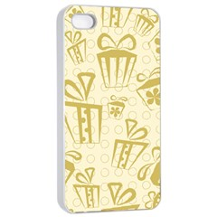 Gift Party Polka Grey Apple Iphone 4/4s Seamless Case (white) by Mariart