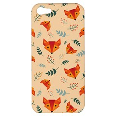 Foxes Animals Face Orange Apple Iphone 5 Hardshell Case by Mariart