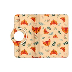 Foxes Animals Face Orange Kindle Fire Hd (2013) Flip 360 Case by Mariart