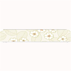 Flower Floral Leaf Small Bar Mats by Mariart