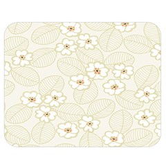 Flower Floral Leaf Double Sided Flano Blanket (medium)  by Mariart