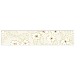 Flower Floral Leaf Flano Scarf (small) by Mariart