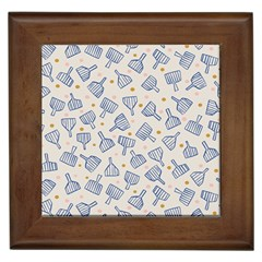 Glass Polka Circle Blue Framed Tiles by Mariart