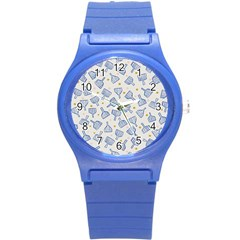 Glass Polka Circle Blue Round Plastic Sport Watch (s) by Mariart