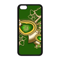 Green And Gold Hearts With Behrman B And Bee Apple Iphone 5c Seamless Case (black) by WolfepawFractals