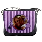 Delightful Purple Stripped Bag - Messenger Bag