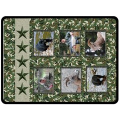 Adventure Camo Blanket By Terrydeh   Double Sided Fleece Blanket (large)   Niutv4p5nh8b   Www Artscow Com 80 x60 Blanket Back