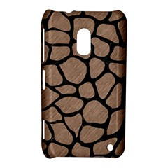 Skin1 Black Marble & Brown Colored Pencil Nokia Lumia 620 Hardshell Case by trendistuff