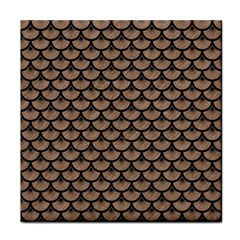 Scales3 Black Marble & Brown Colored Pencil (r) Tile Coaster by trendistuff
