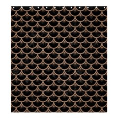 Scales3 Black Marble & Brown Colored Pencil Shower Curtain 66  X 72  (large) by trendistuff