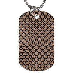 Scales2 Black Marble & Brown Colored Pencil (r) Dog Tag (one Side) by trendistuff