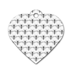 Bee Wasp Sting Dog Tag Heart (one Side) by Mariart