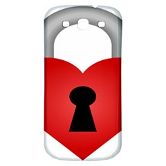Heart Padlock Red Love Samsung Galaxy S3 S Iii Classic Hardshell Back Case by Mariart