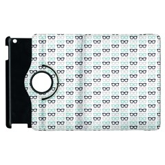 Glasses Black Blue Apple Ipad 3/4 Flip 360 Case by Mariart