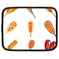 Hot Dog Buns Sate Sauce Bread Netbook Case (xl)  by Mariart