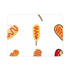 Hot Dog Buns Sate Sauce Bread Double Sided Flano Blanket (mini)  by Mariart