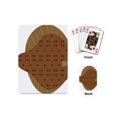 Illustrain Animals Reef Fish Sea Beach Water Seaword Brown Polka Playing Cards (mini)  by Mariart