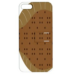 Illustrain Animals Reef Fish Sea Beach Water Seaword Brown Polka Apple Iphone 5 Hardshell Case With Stand by Mariart