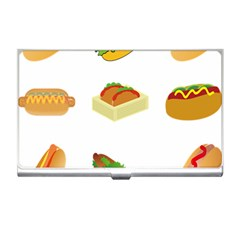 Hot Dog Buns Sauce Bread Business Card Holders by Mariart