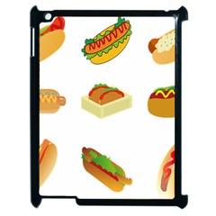 Hot Dog Buns Sauce Bread Apple Ipad 2 Case (black) by Mariart