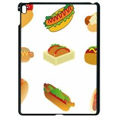 Hot Dog Buns Sauce Bread Apple Ipad Pro 9 7   Black Seamless Case by Mariart