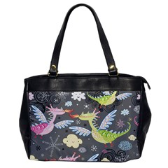 Dragonfly Animals Dragom Monster Fair Cloud Circle Polka Office Handbags by Mariart